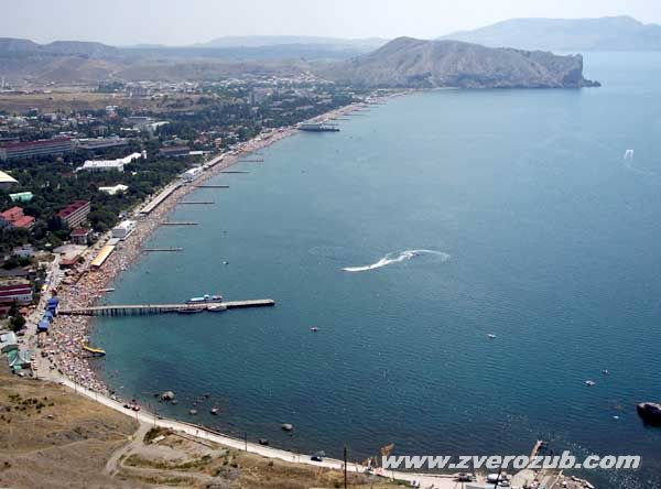 Пляжи городского округа Судак от Солнечной долины до Морского