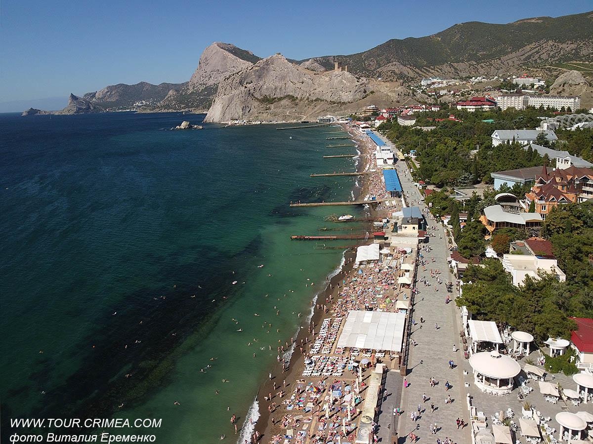 Популярный Судак. Сентябрь 2021.  Пляжный отдых в Крыму продолжается!