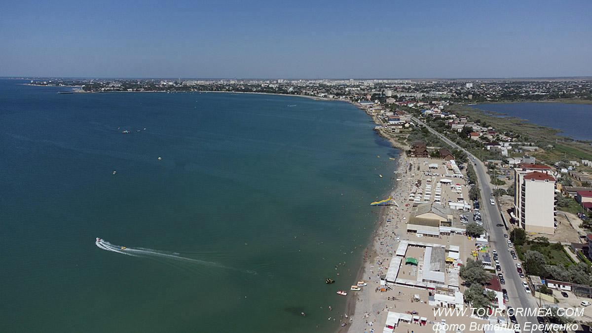 Летать над Крымом, словно птица! Каламитский залив. Пляжи Евпатории.
