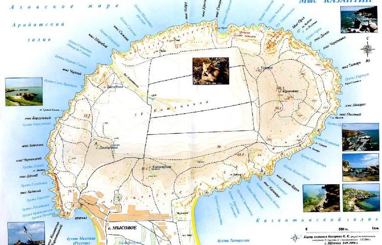 Отдых в Крыму. Казантипский заповедник, мыс в Азовском море