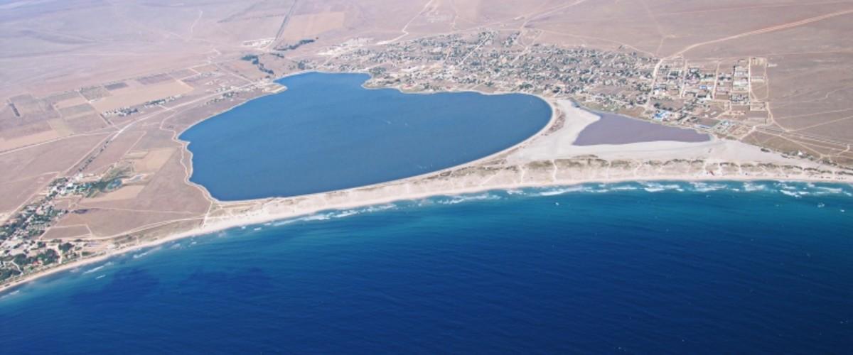 Большие и карманные пляжи Северо-западного Крыма, мыс Тарханкут, коса Беляус