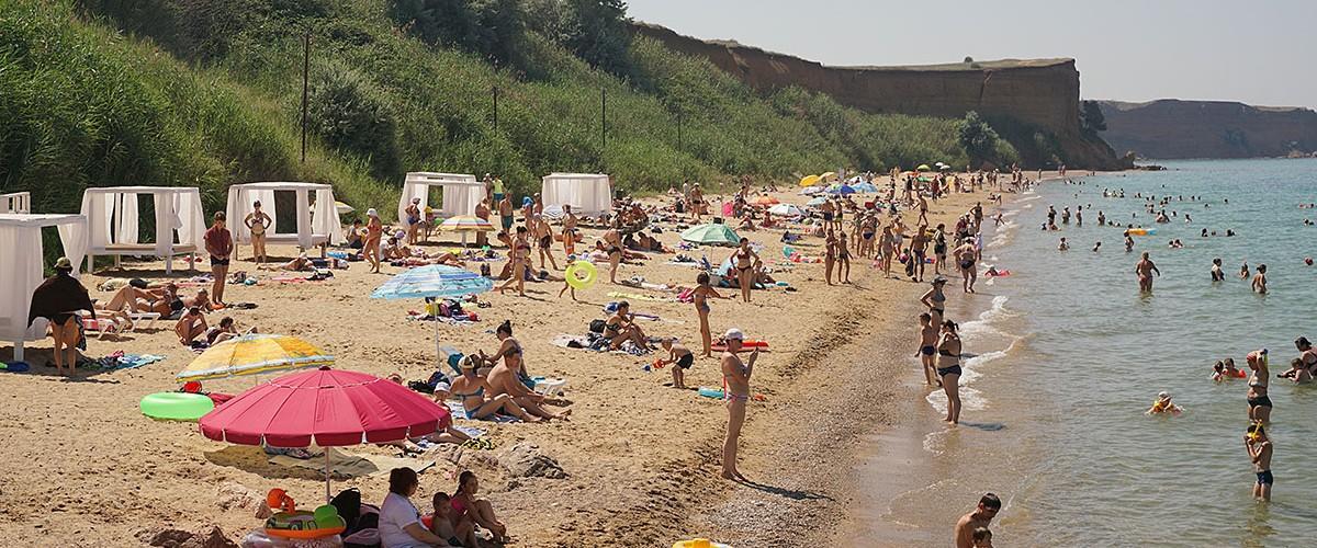 Пляжи п.Андреевка (Севастополь) - спокойный пляжный отдых на западном побережье.