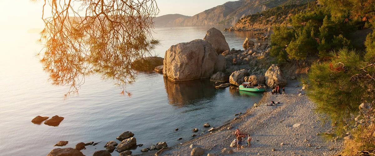 Закат на пляже Инжир (урочище Аязьма).