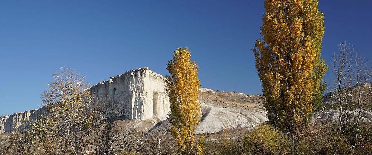 Осень на Белой скале. Золотые тополя. Октябрь 2021г.