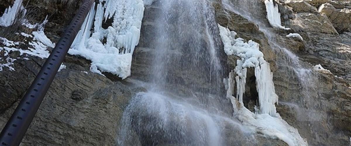 Водопад Учан-Су 23 февраля 2021 г. - и снег и лед, и падающая вода!