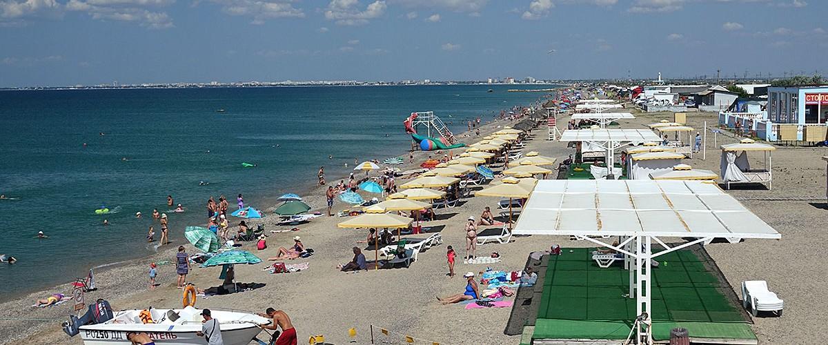 Пляж Солнышко возле Евпатории - отличный солнечный крымский  пляж!